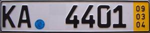 Kurzzeit Kennzeichen für Autotransport